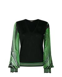 Roberto Cavalli V Neck Printed Pullover