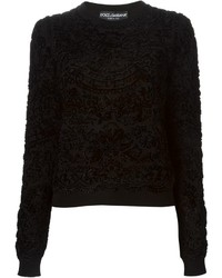 Dolce & Gabbana Velvet Brocade Sweater