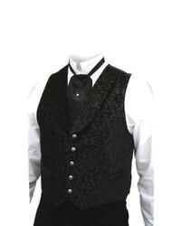 Black Print Waistcoat