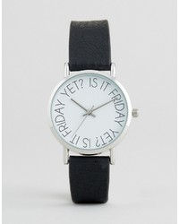 Asos Is It Friday Yet Dial Print Watch