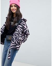 ASOS DESIGN Animal Print Windbreak Jacket