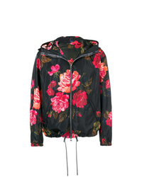 Alexander McQueen Painted Rose Blouson Jacket