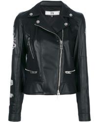 Versus Printed Back Biker Jacket