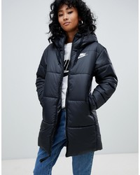 Nike Black Smline Padded Jacket