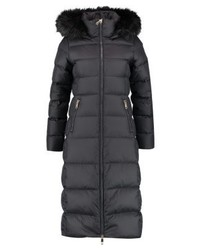 Tommy Hilfiger Courtney Fitted Maxi Puffer Down Coat Black Beauty