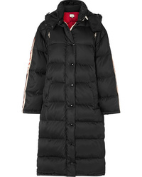 Gucci Oversized Intarsia Trimmed Quilted Shell Down Coat