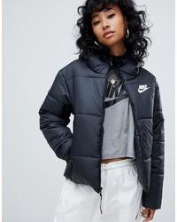 Nike Black Small Logo Padded Jacket