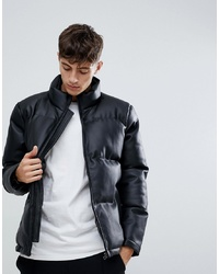 D-struct Faux Leather Pu Puffer