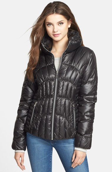 GUESS Fitted Down Feather Jacket | Where to buy & how to wear
