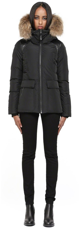 Mackage Vida Black Short Down Jacket With Fur Hood | Where to buy ...