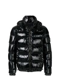 Versace Patent Look Puffer Jacket