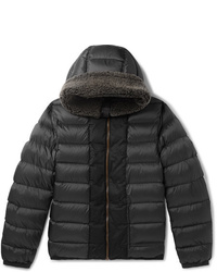 Ten C Shearling Trimmed Quilted Shell Down Jacket