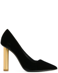 Salvatore Ferragamo Flower Heel Pumps