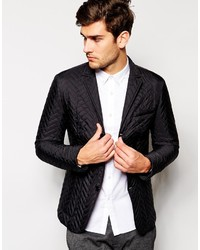 Brand white slim fit quilted blazer medium 157381
