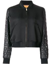 Quilted sleeve bomber jacket medium 4395195
