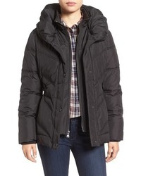 Larry Levine Pillow Collar Quilted Coat