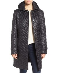 Larry Levine Quilted Hooded Coat