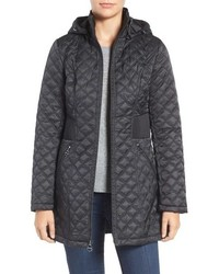 Laundry by Shelli Segal Quilted Hooded Coat