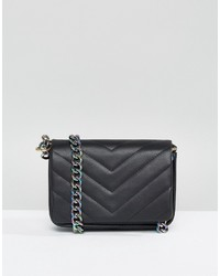 Quilted cross body bag with iridescent chain medium 1148508