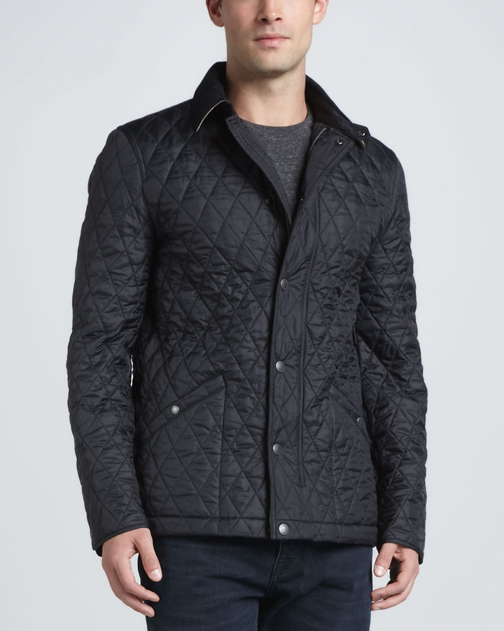 overstock today clothing quilted shipping free gillington jacket burberry men shoes large mens quilt ffcc product blue s
