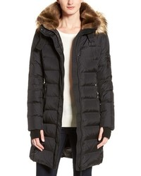 S13/Nyc S13 Uptown Quilted Coat With Faux Fur Trim