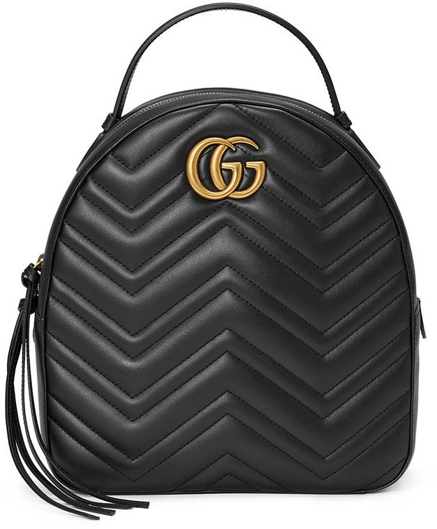 be13d2258cb072 Gucci Black Leather Gg Marmont Backpack, £1,313   farfetch.com ...