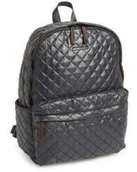 Metro quilted oxford nylon backpack black medium 141096