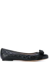 Salvatore Ferragamo Quilted Vara Ballerina Shoes