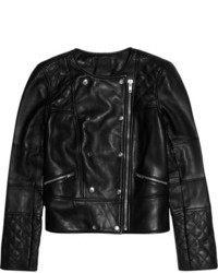 Collection quilted leather biker jacket medium 101155