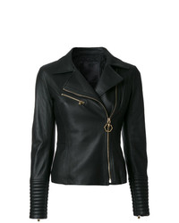 Philipp Plein Fitted Biker Jacket