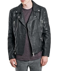 Leather biker jacket medium 355907