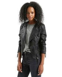 Nelly faux leather biker jacket medium 450697