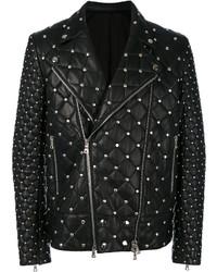 Studded quilted biker jacket medium 6793168