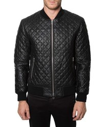 Lafayette quilted leather jacket medium 350333