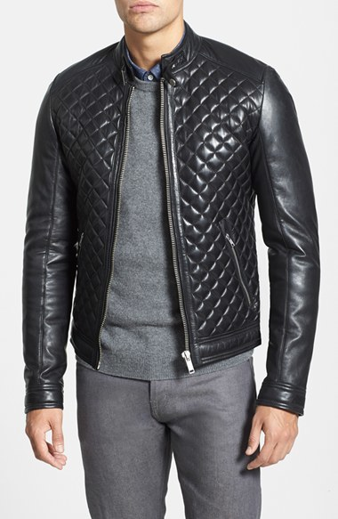 Lamarque Quilted Lambskin Leather Moto Jacket Where To Buy How