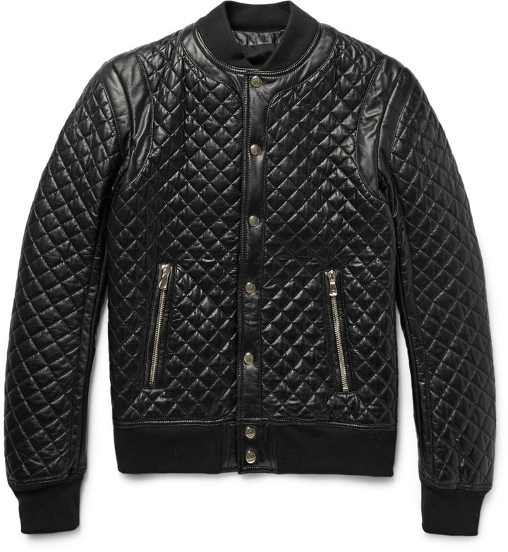 Balmain Quilted Leather Bomber Jacket | Where to buy & how to wear