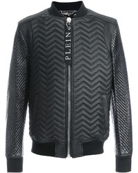 Quilted leather bomber medium 5400972