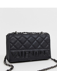 Valentino by Mario Valentino Black Quilted Foldover Shoulder Bag