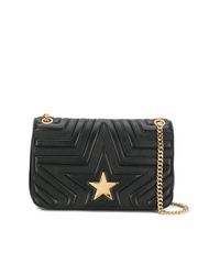 Stella McCartney Black Star Medium Pu Shoulder Bag
