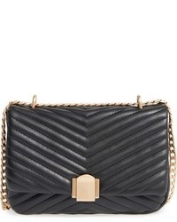 Topshop Quilted Crossbody Bag Black