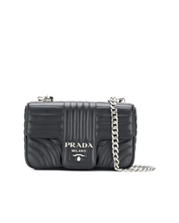 Prada Quilted Foldover Shoulder Bag