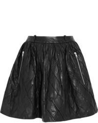 Iris quilted leather mini skirt medium 83195