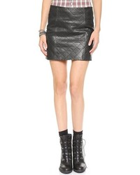 Love leather the quilted straight skirt medium 147781