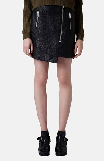 Topshop Quilted Asymmetrical Faux Leather Skirt | Where to buy ... : quilted leather skirt - Adamdwight.com