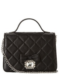 Black Quilted Leather Satchel Bag