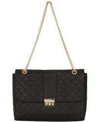 Topshop Quilted Faux Leather Shoulder Bag