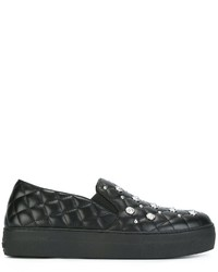 Versus Quilted Slip On Sneakers