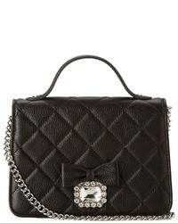 Black Quilted Satchel Bag