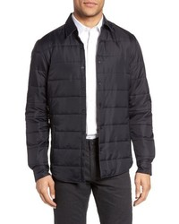 Black Quilted Shirt Jacket