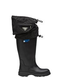 Prada Gaiter Detail Boots